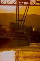 Sunset Hafen Krems