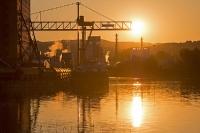 Sunset - Hafen Krems