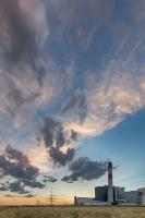 Sunset - Kraftwerk Theiß